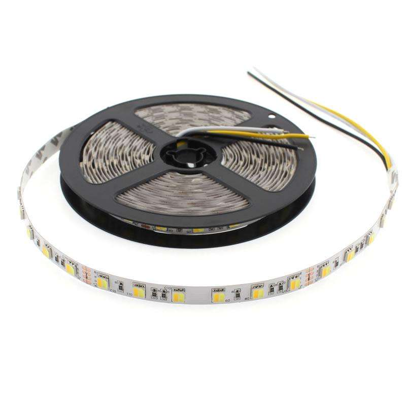 Tira LED Blanco Dual SMD5050, DC24V, 5m (120 Led/m) - IP20, Blanco dual